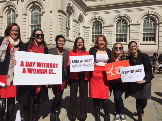 Sheltering arms ceo speaks at ny city hall for women's strike